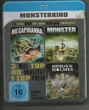 Monsterkino - Metallbox-Edition / Megapiranha,Monster,Sherlock Holmes / Blu-Ray
