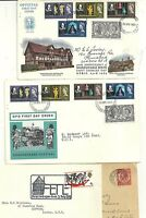 1907/69  6 x STRATFORD ON AVON POSTAL HISTORY COVERS INC 2 SHAKESPEARE FDCS