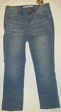 NWT TRUE FREEDOM BLUE JEANS Roll Up Crop Pants Low Rise Embroidery Spandex Jr 1
