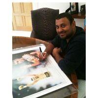 "Naseem Hamed Signed Print ~ Framed Only - Last 6 38"" X 31""  By Patrick J Killian"