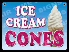 Ice Cream Cone Sign Concession Trailerstandrestaurant 12 X 17 Pvc