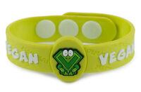 AllerMates VEGAN Wristband Medical Alert ID CHILD DIET VEGETARIAN Bracelet NEW