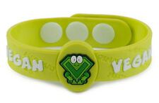 AllerMates VEGAN Wristband Medical Alert ID CHILD DIET VEGETARIAN Bracelet NEW