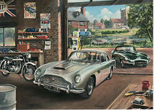 Aston Martin DB5 E type Jaguar Le Mans Du Mans Monaco Norton Motor art card