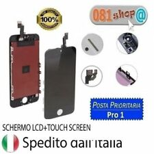 TOUCH SCREEN FRAME VETRO LCD DISPLAY RETINA SCHERMO PER APPLE IPHONE 5 NERO