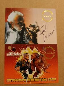 1998 Inkworks Small Soldiers Stan Winston S4 autograph card w/clean Redemption