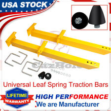 20475 Summit Racing 770501 Universal Traction Bar Kit Leaf Spring  28Inch Yellow