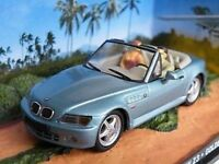 JAMES BOND BMW Z3 CAR GOLDENEYE BROSNAN 1/43RD SIZE PACKAGED BLUE ISSUE K90 {¬}