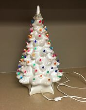 19 White W Purple Doves Ceramic Christmas Tree By Artsonfireplano