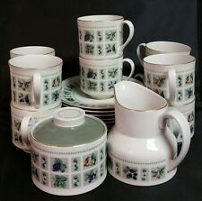 22 Pc Royal Doulton TAPESTRY Creamer, Sugar Bowl w/ Lid, 10 Cups and 9 Saucers