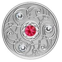 🇨🇦 Canada $5 Silver Coin, Birthstone - JULY, Swarovski Crystals, UNC, 2020