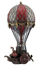 "9.75"" Steampunk Hot Air Balloon Sculpture Home Decor Statue Figurine Figure"