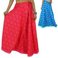 Indian Cotton Women Floral Print Clothing Beach Skirt Boho Wear Hippie Lace