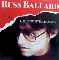 """7"""" 1985 CLASSIC ROCK RARE MINT- ! RUSS BALLARD : The Fire Still Burns"""