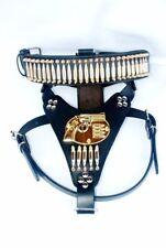 Patronen Pistole Halsband Leine Geschirr S- XL 100% Handarbeit