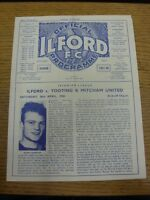 26/04/1958 Ilford v Tooting And Mitcham United  (Four Pages, Light Crease/Folded