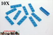 10X Lego® 3710 Platten Plate 1X4 medium Blau Blue Neu 4179828
