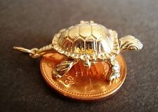 BEAUTIFUL 9CT GOLD OPENING ' TORTOISE AND HARE' CHARM