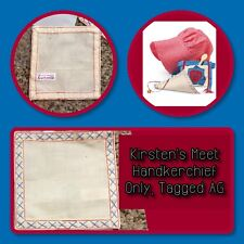 American Girl Kirsten Meet Handkerchief Only, Tagged AG, EUC, Retired 2009