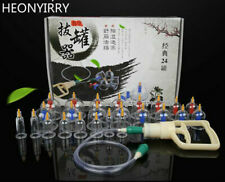 24Pcs Massage Cans Chinese Cupping Tools Care Facial Set Tank Banks Vacuum Pull
