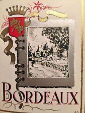 Vintage BORDEAUX French Wine Label 1920's Unused