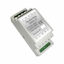 Haseman Z-Wave DIN Rail Double Switch module, v2 (Insert Fibaro FGS-223)