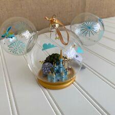 Disney Parks Mickey Ears Blown Glass Cinderella Castle Epcot 4 parks Ornament