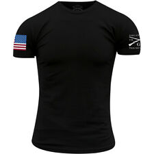 Grunt Estilo Bandera a todo Color Básico Camiseta-Negro