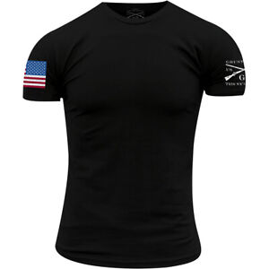 Grunt Style Full Color Flag Basic T-Shirt - Black