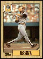 1987 Topps #320 - Barry Bonds - Baseball Card - Pittsburgh Pirates