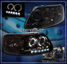 1997-2003 FORD F150/1997-2002 EXPEDITION HALO LED PROJECTOR HEADLIGHT SMOKE PAIR