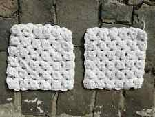 Vintage pillow cases, hand knitted pillow cases