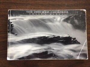 1999 Jeep Cherokee Owners Manual OEM