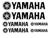 Yamaha Tank 6x Aufkleber Yamaha Sticker Schwarz Bike Motorrad Racing Cycle.,