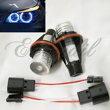 Angel Eye E39 BMW Blue 10000K Halo Ring LED Headlight #St4 Bulb E60 E87 AEJX01