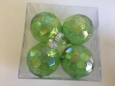 Green chartreuse Transparent Christmas Shatter Resistant 3 Inch Ornaments