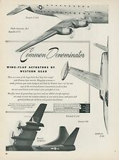 1951 Western Gear Works Ad Aviation Lockheed F-90 Convair XPB5Y-1 Douglas C-124