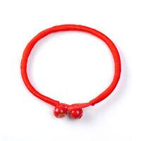 "Unisex 7.48"" Lucky Charms Bracelets Bead Red String Ceramic Evil Eye Protection"