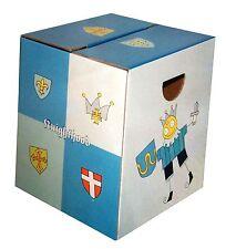 Papphocker Sitzhocker für Kinder Knighthood Ritter 33 x 33 x 39 cm