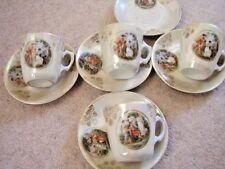 Vienna Austria  porcelain tea set :cups and saucers ,set for 4