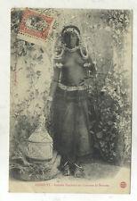 CARTE POSTALE ANCIENNE FEMME DANKALIS SEINS NUS DJIBOUTI  COTE DES SOMALIS 1908
