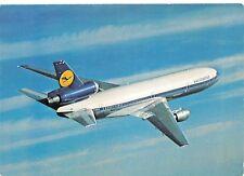 Lufthansa DC-10  Airplane Postcard