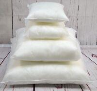 """Virgin Hollow Fibre Cushion Pad Pillow Inner Filler 11"""" 13"""" 15"""" 17"""" 19"""" 21"""" 23.."""