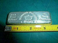 10 oz. Monarch Precious Metals Bar .999+ Fine Silver Hand Poured USA Made....