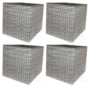 DRÖNA, grau gemustert, 4 St., IKEA, KALLAX, Regal, Fach, Box, 33x38x33cm