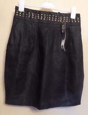 Marks & Spencer Limited Collection Uk10 Eu38 Us6 Black Linen Lined Skirt