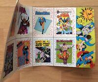 Old Vintage DC Comics Comic Book Trading Cards Uncut Sheet Batgirl Teen Titans +