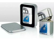 VW Volkswagen CamperVan Windproof Cigarette Petrol Lighter blue in Gift Box