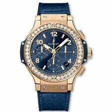 Hublot Big Bang Gold Blue Diamonds 41mm-Unworn with Box and Papers 2020 (refNK)
