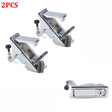 2Pcs Metal Latch Lock Key Kit Cabinet Luggage Compressed Latch - For RV Trailer